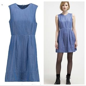 GAP chambray fit and flare dress size 12